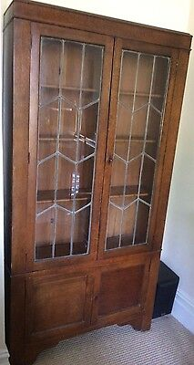 Antique glass-fronted book display case