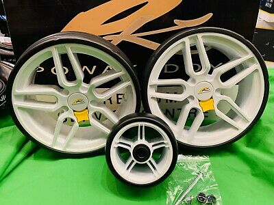 Powakaddy Wheels Front And Rear Wheels To Transform Trolley Fits All Powakaddys*