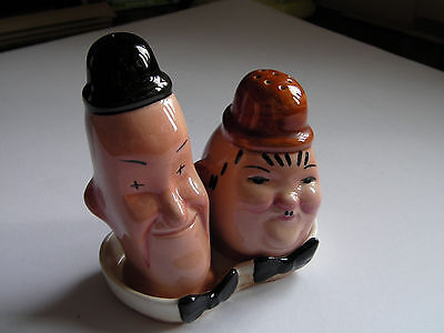 Laurel and Hardy Beswick Salt and Pepper Set