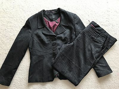 Ladies Charcoal Tailored Trouser Suit By Next Size 16 14 Long