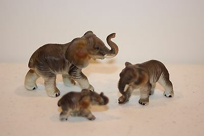 Bone China Miniature Animals:  Elephant Family