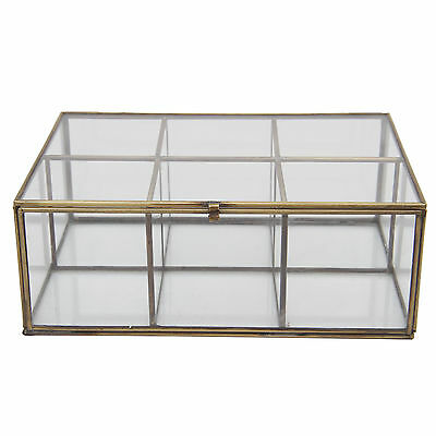 Decorative Glass and Brass Box Mercury Row Free Shipping High Quality