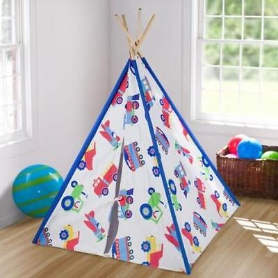 Trains, Planes and Trucks Canvas Play Teepee Wildkin Free Shipping High Quality