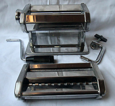 STAINLESS STEEL PASTA MAKER 3 types in 1 machine PLUS Pasta Drying Rack - VALUE