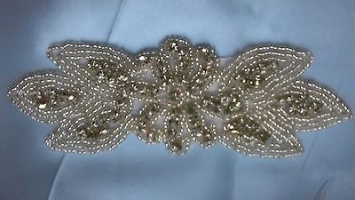 Diamante and beaded wedding dress embellishment