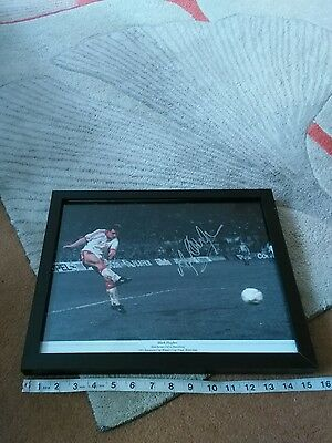 Mark hughes man utd 1991 european cup final signed picture