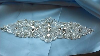 crystal and beaded wedding dress embellishment