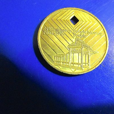 One Nyc Diamond Jubilee 75 Anniversary Subway Brilliant Token Big Apple Souvenir