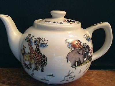 Paul Cardew Noah's Ark Teapot - 'The animals went in two by two hurrah hurrah'