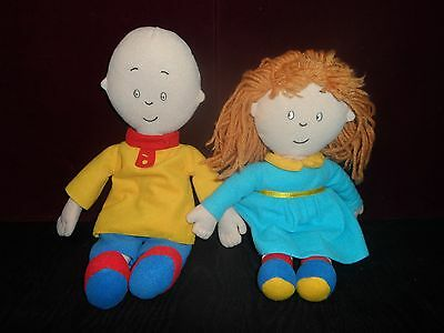 CAILLOU and  ROSIE PLUSH DOLLS LOT 14 inches PBS doll CINAR
