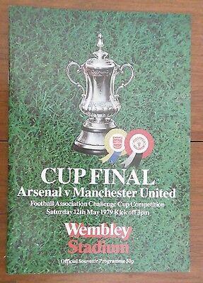 Arsenal V Manchester United (Fa Cup Final) Football Programme 12-5-1979