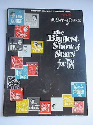 Vintage Biggest Show Of Stars 1958 Program Sam Cooke Lavern Baker Everly Bros