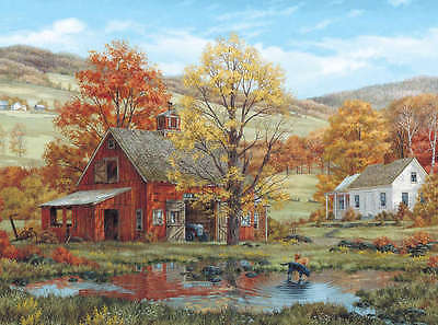"""Jigsaw Puzzle Fred Swan 1000 Pieces 24""""X30"""" Friends in Autumn WM189"""