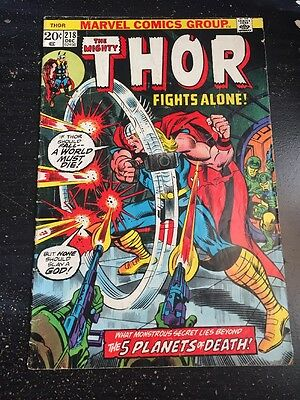 Mighty Thor#218 Excellent Condition 4.0(1973) Buscema Art!!