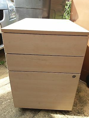 Filing Cabinet Beech 3 Drawers