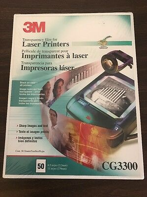 3M Products - 3M - Black & White Laser Printer Transparency Film, Clear, Letter,