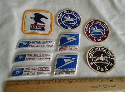 Lot 9 USPS Patches United States Postal Service Post Office Department US Mail