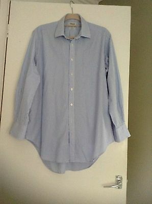 Blue Striped Shirt From T M Lewin Size 17 Inch Collar