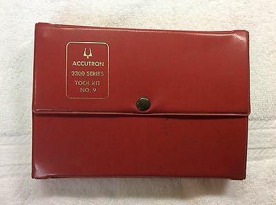 Vintage Bulova Accutron Tool Kit Case Opener Movement Holder Bending Tool Wrench