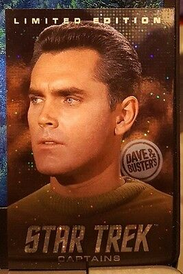 TWO (x2) Dave & Busters Captain Pike Limited Edition Star Trek Coin Pusher Cards
