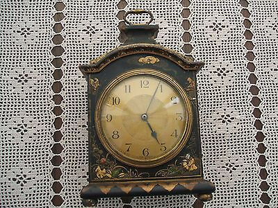 Petite 18Th Century Style Chinoiserie Decorated Bracket Clock
