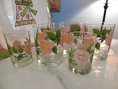 Franciscan China Glassware 6 GLASSES  DESERT ROSE