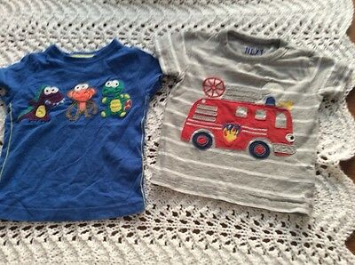 next boys t shirts x 2 6-9 mths