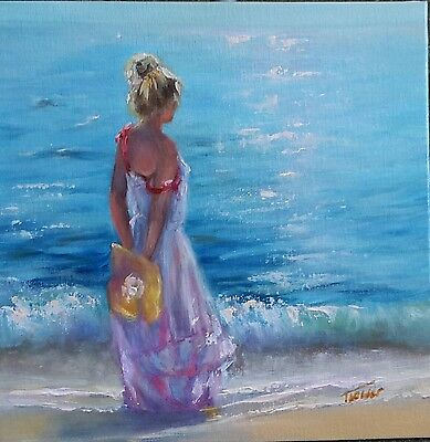 'Summer is here' Original oil painting by Tanya Holder / Seascape