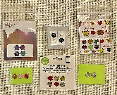 Lot of 25 HOME BUTTON STICKERS iPhone (Pod / Pad) 4, 4s, 5, Adhesive
