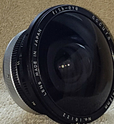 Accura Fish-Eye Lens Made in Japan 1:8  f=12mm  VG+++