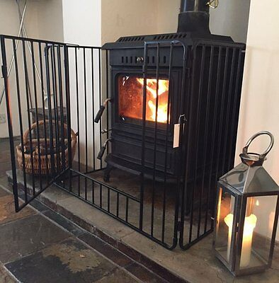 Heavy Duty Metal Child Safety Fireplace Stove Guard Opening Gate