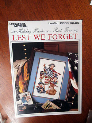 Vtg Leisure Arts Lest We Forget Book 4 Cross Stitch Chart NEW
