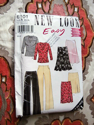 Oop New Look 6101 Misses Knit Pants top straight & flared skirt size 6-24