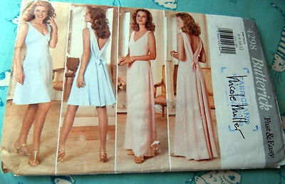 Oop Butterick 4298 Elegant evening wedding dress fitted flared size 6-10 NEW