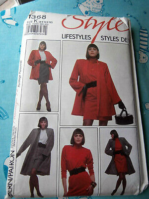 Oop Style 1368 womans loose fitting flared jacket dress tunic skirt sz 8-12 NEW