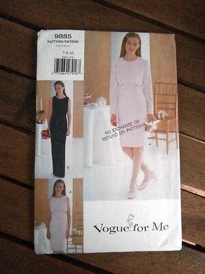 Oop Vogue for Me 9885 Girls evening suit sleeveless dress elegant size 7-10 NEW