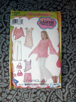 Oop Simplicity 4722 Lizzie McGuire girls dress pants shorts purse size 8-16 NEW