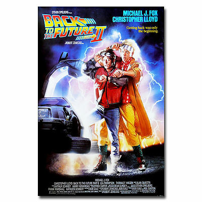 09898 Back To The Future 2 Classic Movie Art Fabric Poster Print