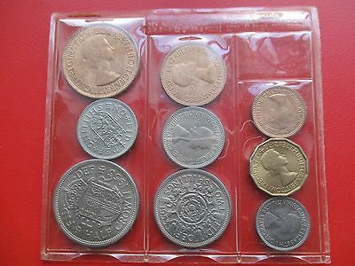 1953 9 coin uncirculated set in nice condition (ref 292)