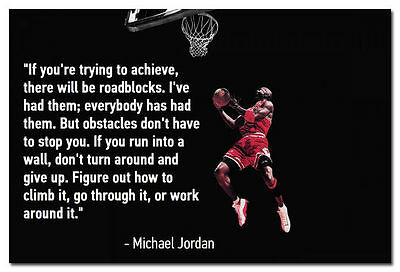10353 Why I succeed Michael Jordan Motivational Quote Poster
