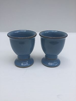 Denby Stoneware Made In England Colonial Blue X 2 Eggs Cups