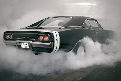 09619 Dodge Charger RT Drift Retro Car Photo Print POSTER