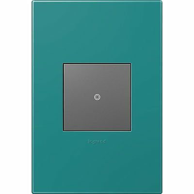 Legrand AWP1G2TB4 adorne 1-Gang Square Plastic Wall Plate, Turquoise Blue