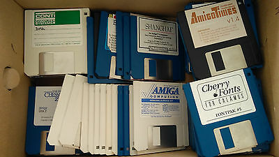 Lot of 80 floppy disks for Atari ST and Amiga Computers