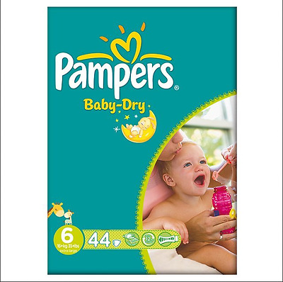 Pampers Baby Dry Size 6 16Kg+ 3 X 44 Pack 132 Nappies