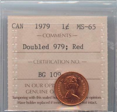 1979 Small Cent Double date 979 ICCS