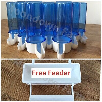 20 x 110cc Cage Bird Water Drinker / Feeder for Finch - Canary - Budgie -Aviary