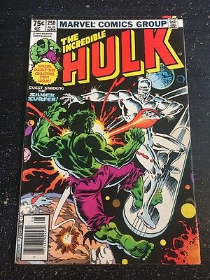 Incredible Hulk#250 Awesome Condition 6.5(1980) Silver Surfer App,Cool!!
