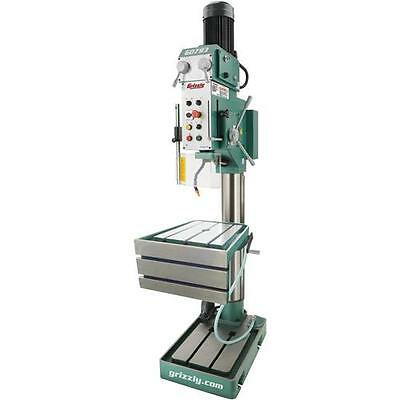 G0793 Grizzly Heavy-Duty Drill Press with Auto-Feed, Tapping and L-Table