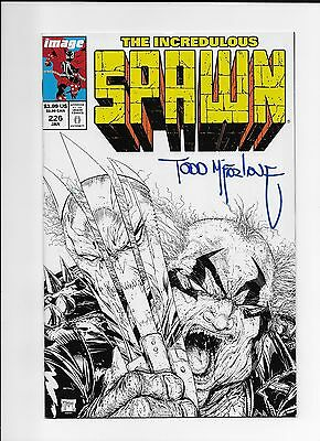 Spawn Comic #226 Comic Book NM Condition Todd Mcfarlane Homage Sketch Signed